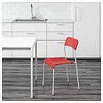 IKEA ADDE Стул, красный, белый  (902.191.84), фото 2