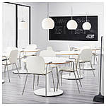 IKEA SVENBERTIL Стул с подлокотниками, белый, Дитмар хром  (191.977.04), фото 5