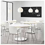 IKEA SVENBERTIL Стул с подлокотниками, белый, Дитмар хром  (191.977.04), фото 6