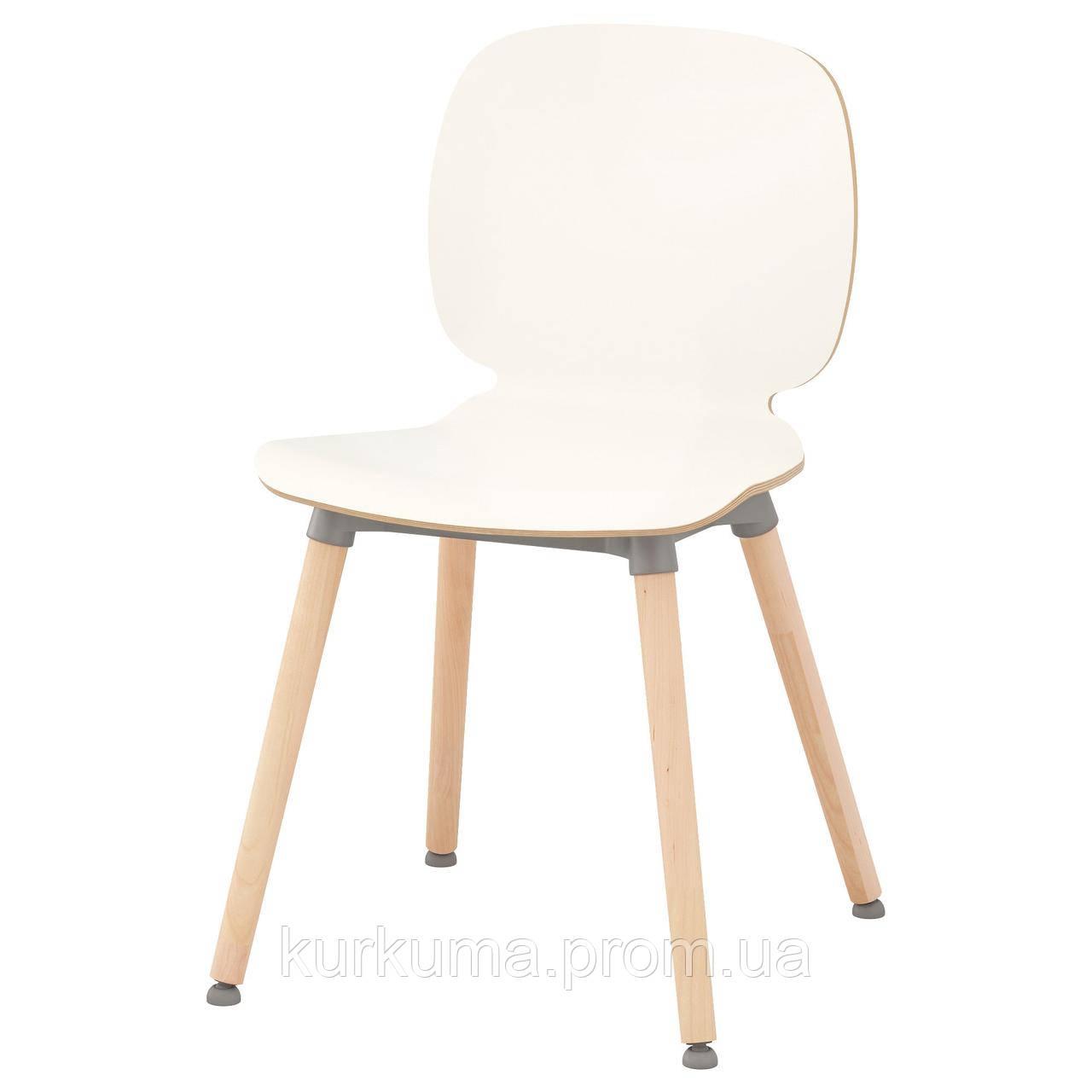 IKEA SVENBERTIL Стул, белый, Эрнфрид береза  (591.977.02)