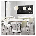IKEA LEIFARNE Стул с подлокотниками, белый, Дитмар хром  (391.278.09), фото 4