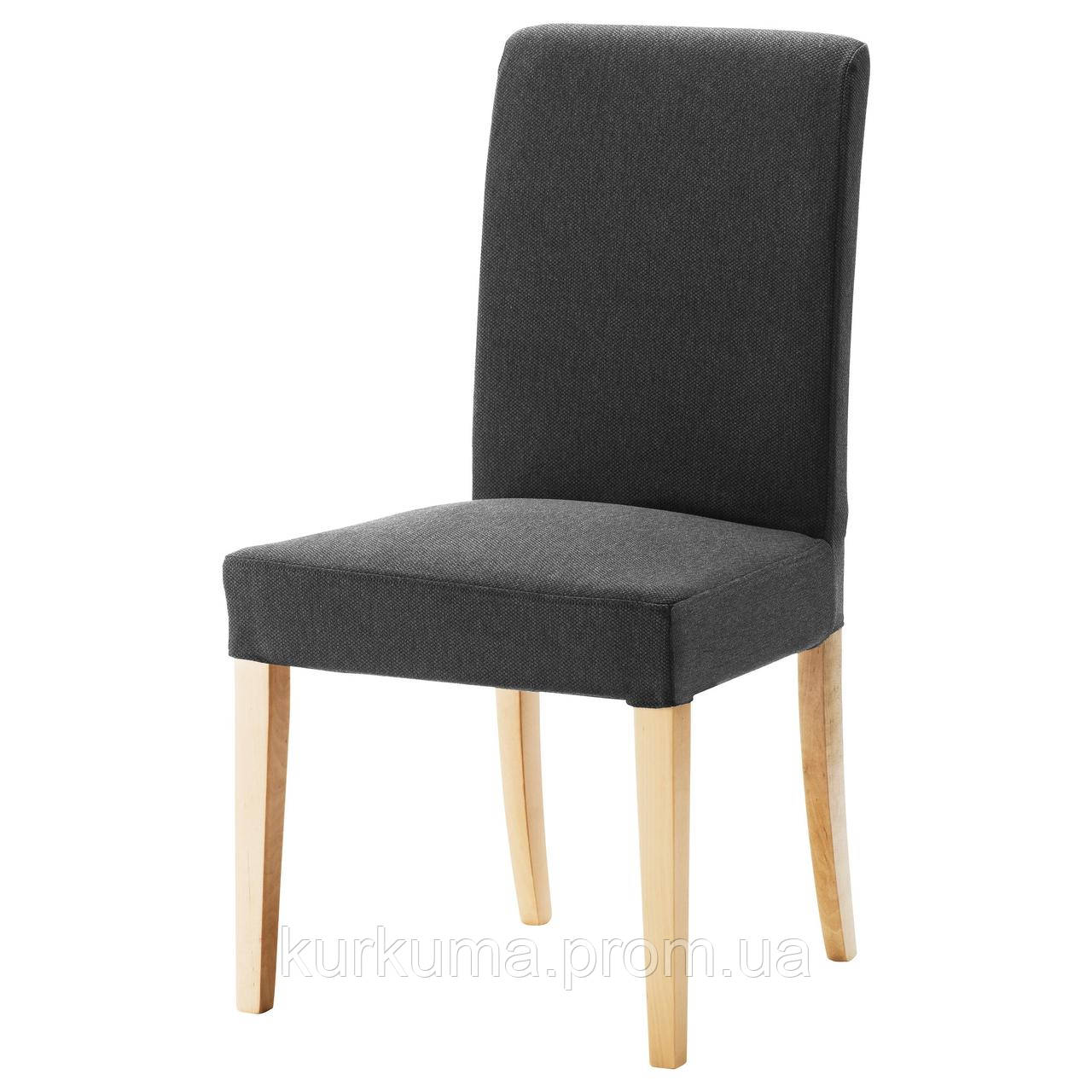 IKEA HENRIKSDAL Стул, береза, ДАНСБУ темно-серый  (999.264.50)
