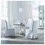 IKEA HENRIKSDAL Стул с длинным чехлом, береза, Блекинге белый  (598.500.46), фото 8
