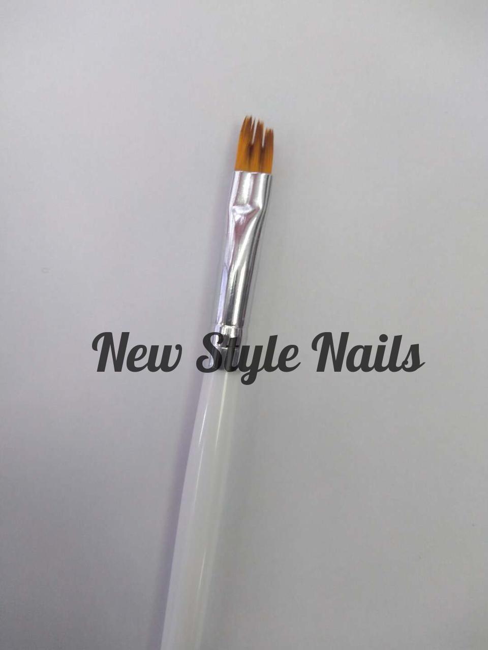 Кисть для дизайна ногтей(скошенная)
