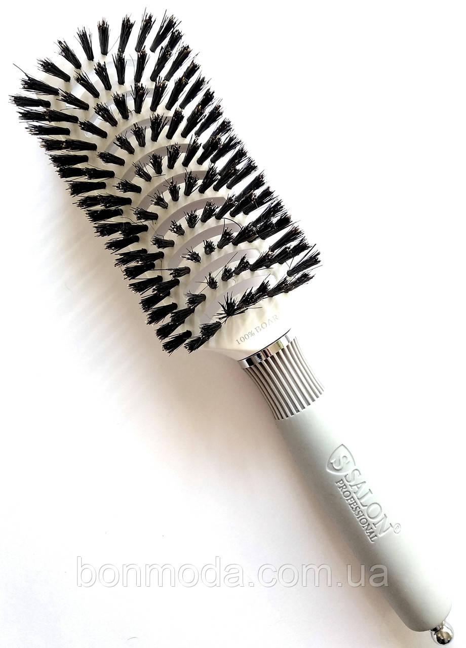 Щетка для волос натуральная щетина расческа Salon Professional