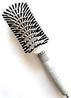 Щетка для волос натуральная щетина расческа Salon Professional, фото 1