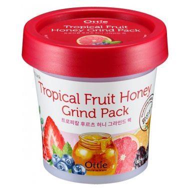 Акція -15% Фруктово-медовая ночная маска для лица Ottie Tropical Fruit Honey Grind Pack - 100 мл