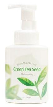 Акція -15% Крем-мусс для умывания зеленый Чай Missha Line friends Micro bubble foam Green tea seed - 250 мл