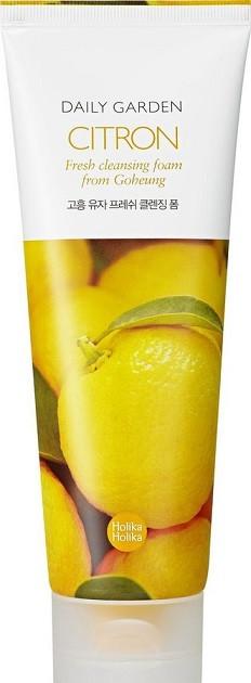 Акція -15% Пенка для умывания Holika Holika daily garden citron cleansing foam с экстрактом цитруса -120 мл