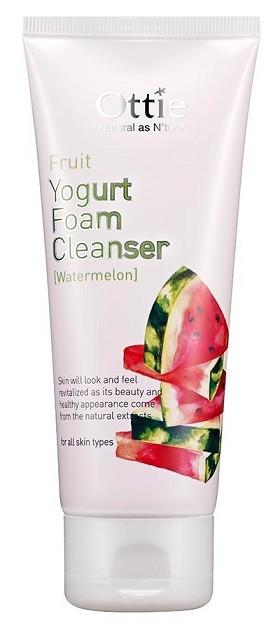 Акція -15% Очищающая пенка для умывания с арбузным йогуртом Fruits Yogurt Foam Cleanser Watermelon OTTIE - 150 мл