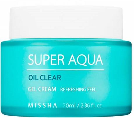 Акція -15% Екстраувлажняющий крем для лица Missha Super aqua oil clear gel cream, 70 мл