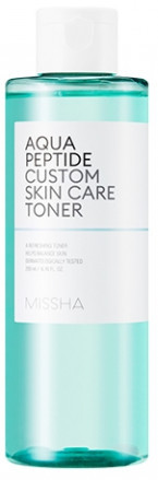 Акція -15% Увлажняющий Тоник с пептидами Missha Aqua Peptide Custom Skin Care Тонер - 200 мл