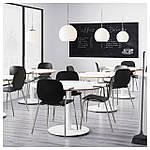 IKEA SVENBERTIL Стул с подлокотниками, черный, Дитмар хром  (191.976.95), фото 5