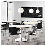 IKEA SVENBERTIL Стул с подлокотниками, черный, Дитмар хром  (191.976.95), фото 6