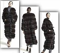 Пальто из соболя расшито накашемире Лорро Пиано, фото 1