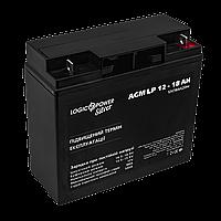 Аккумулятор кислотный AGM LogicPower LP 12 - 18 AH SILVER