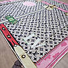 Платок Louis Vuitton шелк бежевый с принтом, фото 5