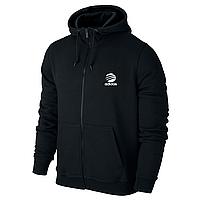 Спортивная мужская кофта на змейке Adidas, черная