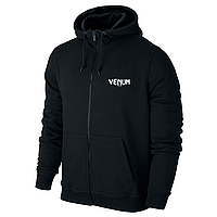 Спортивная мужская кофта на змейке Venum, черная