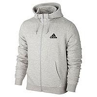 Спортивная толстовка на молнии Adidas, серая