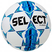 Мяч футбольный SELECT Fusion (бело-голубой, размер 3, 4, 5)