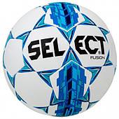 Мяч футбольный SELECT Fusion размер 3, 4, 5 бело-голубой (085500)