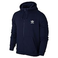 Спортивная толстовка на молнии Adidas, синяя