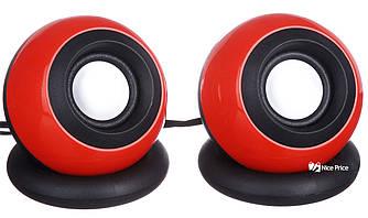 Компьютерные колонки акустика USB 2.0 D008 Red (3245)