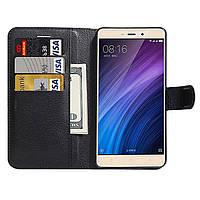 Чехол-книжка Litchie Wallet для Xiaomi Redmi 4 / Redmi 4 Prime Черный