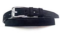 Кожаный замшевый женский ремень 25 мм чёрный пряжка серебрянная овальная со стразами