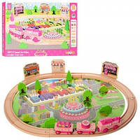 Деревянная игрушка Железная дорога Wooky MD 1056