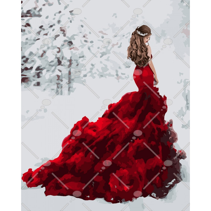 Картина по номерам Идейка - Снежная королева 40x50 см (КНО4540)