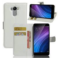 Чехол-книжка Litchie Wallet для Xiaomi Redmi 4 / Redmi 4 Prime Белый