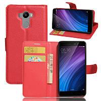 Чехол-книжка Litchie Wallet для Xiaomi Redmi 4 / Redmi 4 Prime Красный