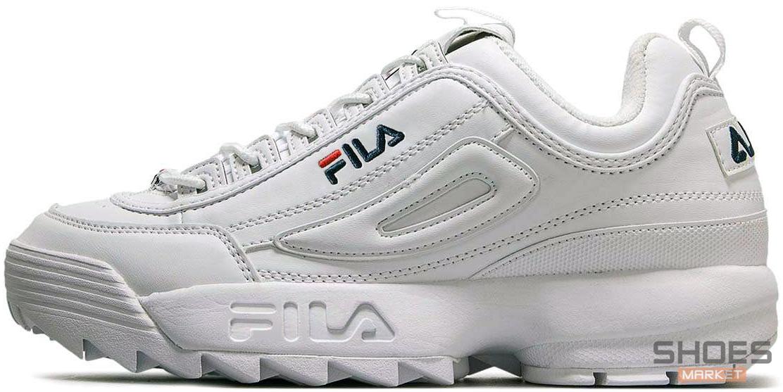 4bcdcfbbad5505 Мужские кроссовки Fila Disruptor Low ll 1010262 1FG White -  Интернет-магазин обуви и одежды