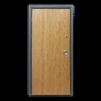 Входная металлическая бронированнная дверь Сруб коричневый (серия «Коттедж»)