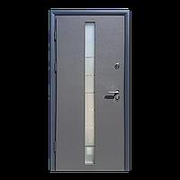 Входная металлическая бронированнная дверь Грей-Гласс (серия «Коттедж»)
