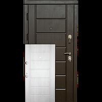 Входная металлическая бронированнная дверь Канзас венге/сосна прованс (серия «ВИП+»)