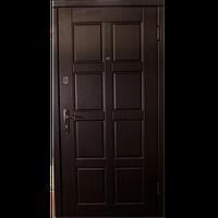 Входная металлическая бронированнная дверь Чайка венге улица (серия «Эконом»)