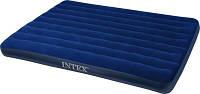 Матрас велюровый синий, большой (без насоса) Intext 152*203*22 см (68759)