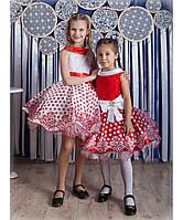 Нарядное пышное платье в горох разные цвета 4-10 лет , фото 1