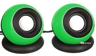 Компьютерные колонки акустика USB 2.0 D008 Green (3245)