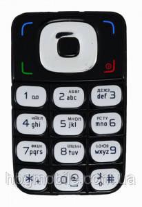 Клавиатура для Nokia 6136, черная, оригинал