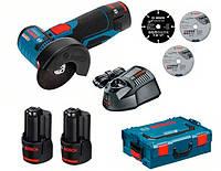 Аккумуляторная угловая шлифмашина Bosch GWS 10.8-76 V-EC L-BOXX