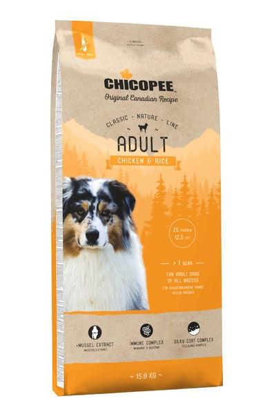 Chicopee CNL Adult Chicken and Rice (Чикопай Эдалт Чикен енд Райс) - корм для собак всех пород 15 кг