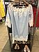 Туника женская лен голубая с макраме Suavite 10119, фото 4
