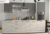 """Сучасна Модульна Кухня """"Шарлотта"""" (дуб крафт білий, графіт), фото 1"""