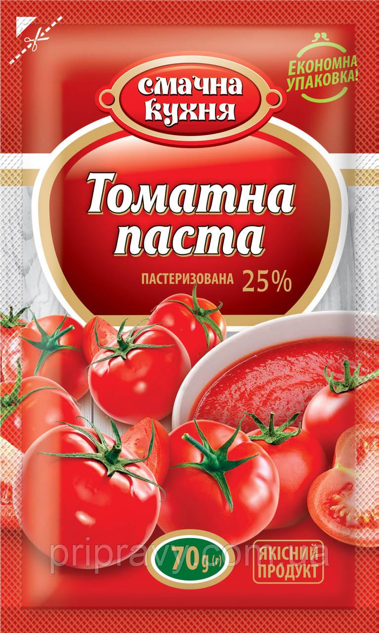 Томатная паста пастеризованная 25% ТМ Смачна кухня,70 г