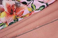 Ткань Лен натуральный, персик №131 эко, фото 1