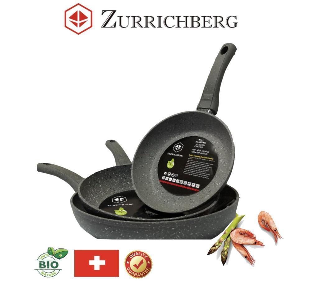 Набор сковородок 3 шт разные размеры Zurrichberg ZB 2017 комплект мраморных сковородок 20/24/28 см